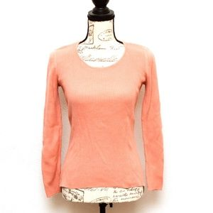JH Collectibles Sweater Womens Small Coral Pink